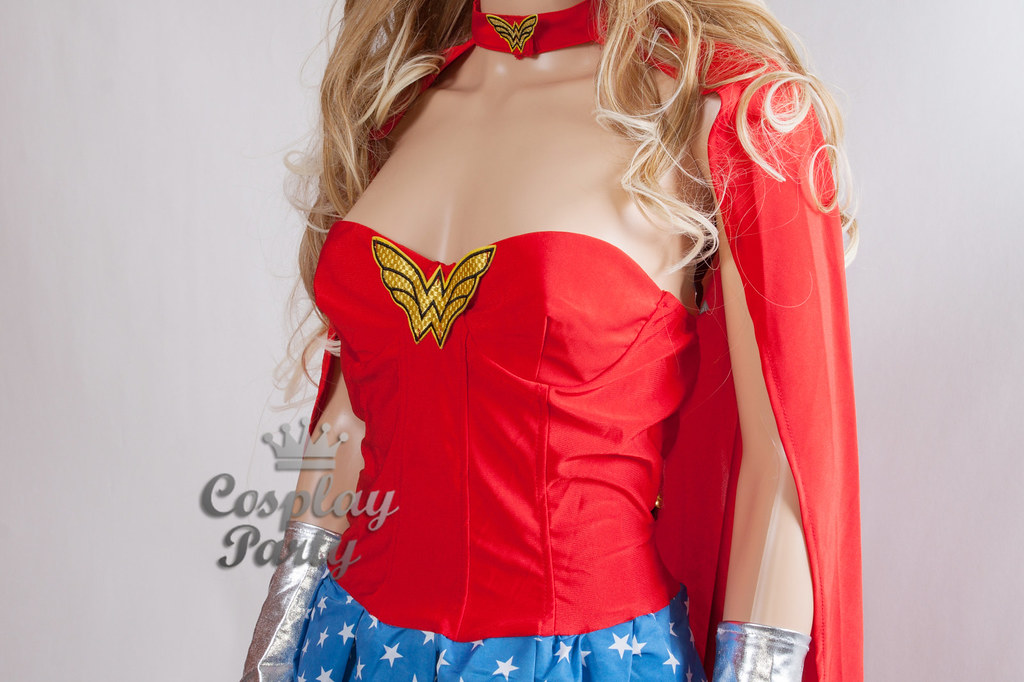 Sexy Wonder Woman Girl Costume Set Wcorset Outfit For -3181