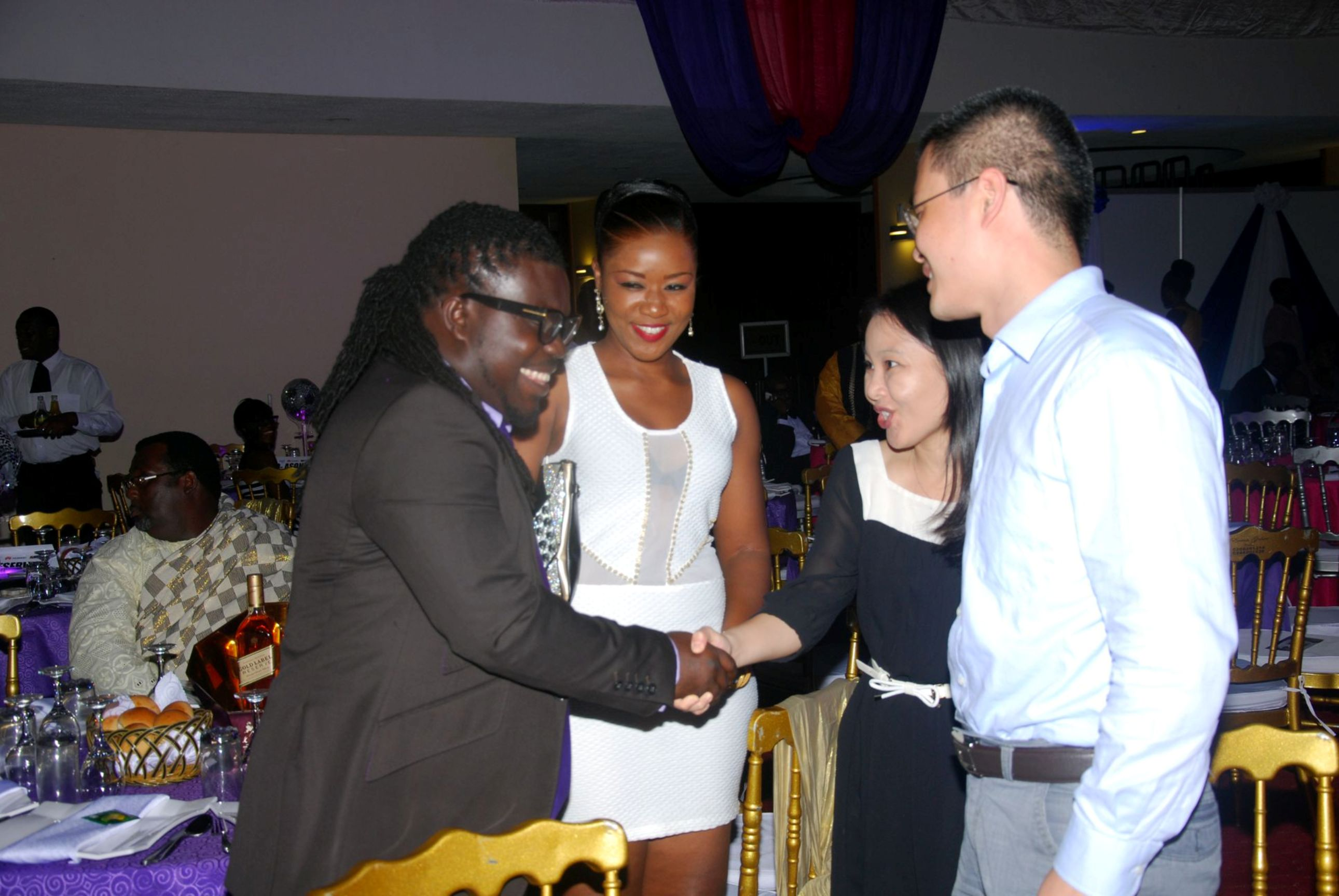obour with Huawei guests