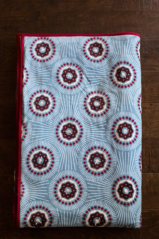 hand tied velveteen quilt
