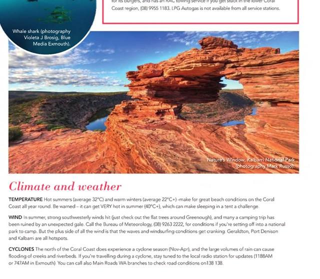 Scoop Traveller mag use on my Kalbarri image,  Aug 2014