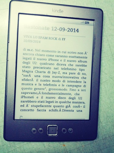 Bastonate2kindle in esecuzione sul Kindle