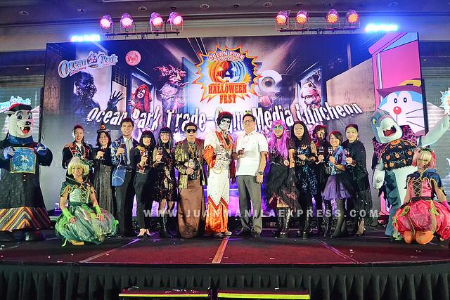 OCEAN PARK HONG KONG HALLOWEEN FEST TRADE MEDIA LAUNCH. The Ocean Park Hong Kong Halloween Fest launched at Makati Shangri-La Hotel.
