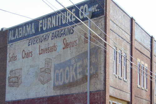 Alabama Furniture Co. faded mural - Chattanooga