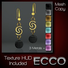 10L ECCO Pearl Drop Earrings With HUD Vendor