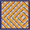 I posted a free #pattern for a #quilt I named Labyrinth (the graphic here has an error in it. See if you can spot it). You can download the #freepattern on my blog (link in profile) #labyrinth #quilting #sewing #stitching #craft #patchwork #halfsquaretria