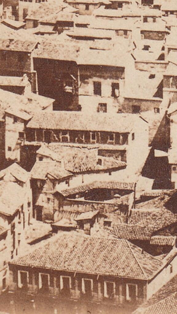 Detalle del antiguo corral de comedias de Toledo, que estuvo en pie hasta 1865, fecha en la que se demolió para edificar allí el Teatro de Rojas