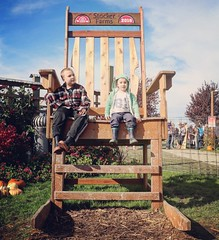 Yesterday at the pumpkin patch.