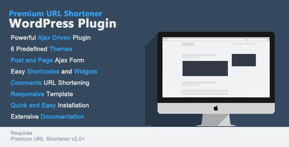 Premium URL Shortener WordPress Plugin v1.0