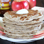 Eggless Apple Pancakes