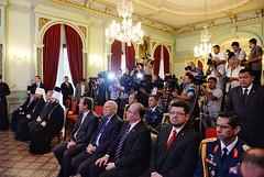 Святейший Патриарх Кирилл встретился с Президентом Республики Парагвай Орасио Картесом. На встрече присутствовал епископ Богородский Антоний