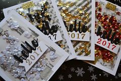 Holiday Card Series 2016 - Hello 2017 Shaker Cards (fuse tool)