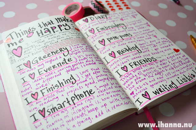 In my Diary: A love/happiness list