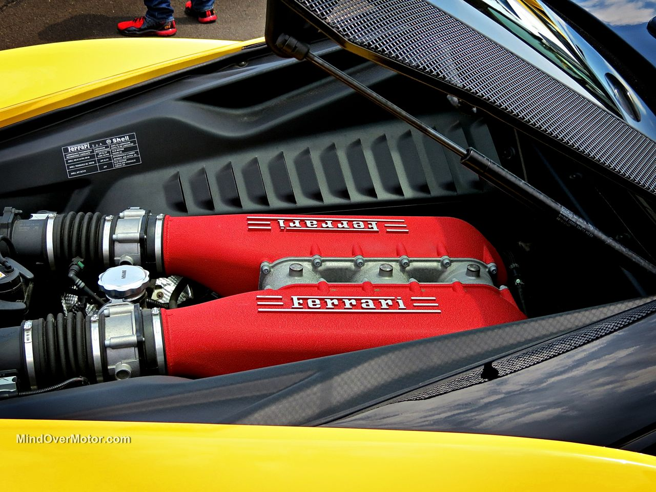 Ferrari 458 Engine at CF Charities