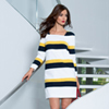 Three Quarter Sleeve Shift Dress
