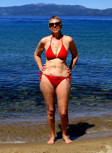 Red Bikini, Wife Blue Lake Tahoe  The Clear Blue Waters -5768