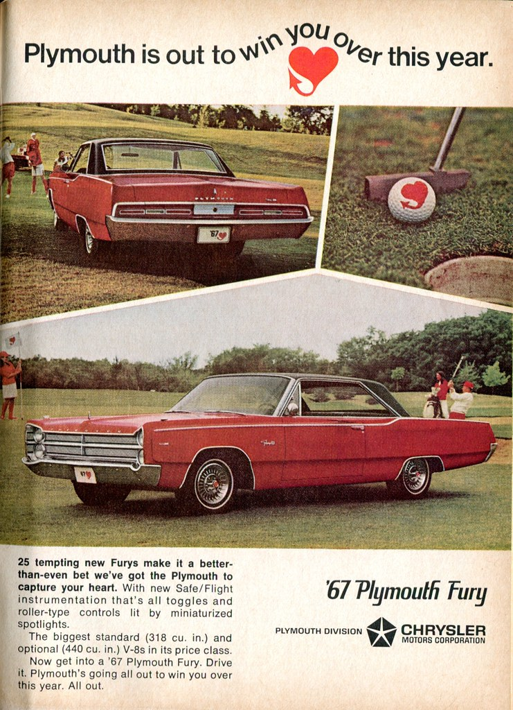 1967 Plymouth Fury Advertisement Readers Digest November 1966