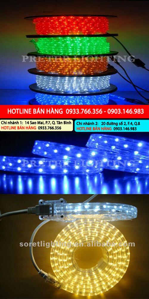 Bán led 5050, led 3528  cuộn hắt trần ống nhựa vuông 50m, 100m giá rẻ nhất 2013