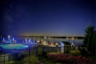 Salt Water Pool night sky