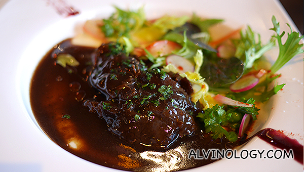 Braised Beef Cheek (S$19) - Beef cheek braised in red wine, served with whipped potatoes