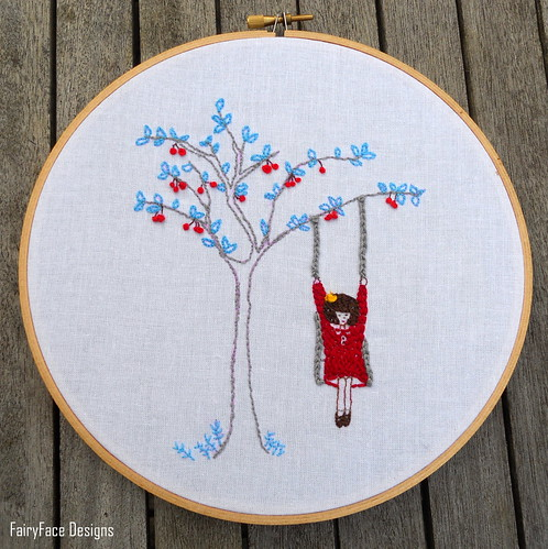 Cherry on the Tree Swing complete