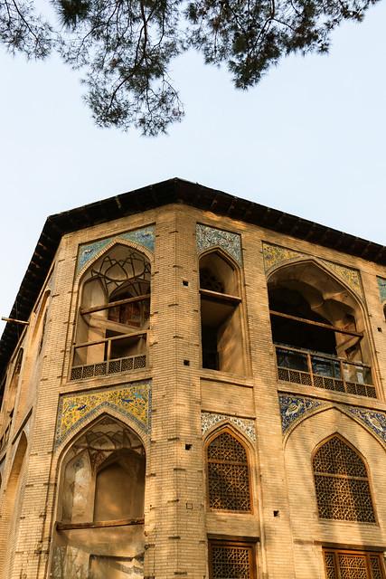 Hasht Behesht palace, Isfahan イスファハン、ハシュト・ベヘシュト宮殿外観