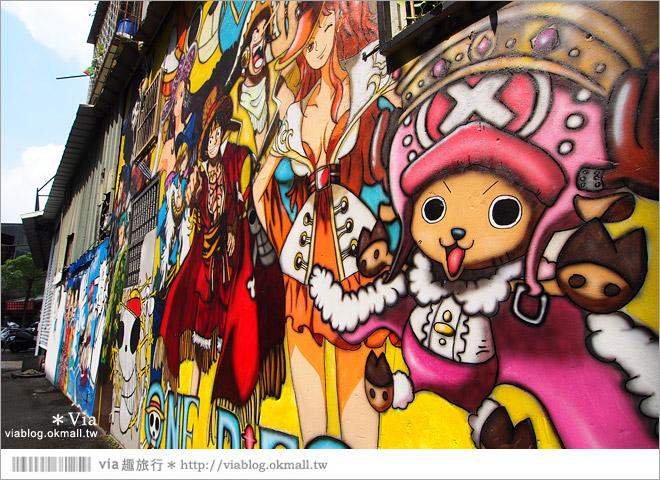 【台中海賊王彩繪】台中新遊點!小巷裡出現海賊王彩繪牆~ONE PIECE迷必訪!7