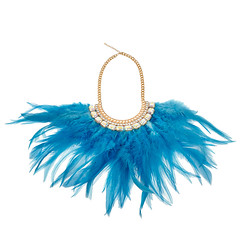 Azure Feather Necklace