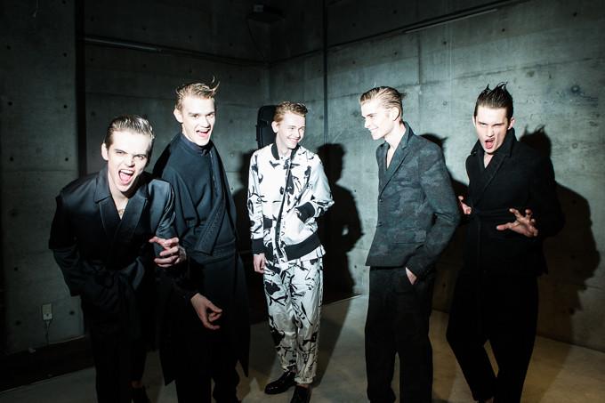 Yulian Antukh(Antuh)3059_FW14 Tokyo Sise_Rian van Gend, Frederik Tolke, Robbie McKinnon, Lewis Conlon, Yulian Antukh(Fashion Press)