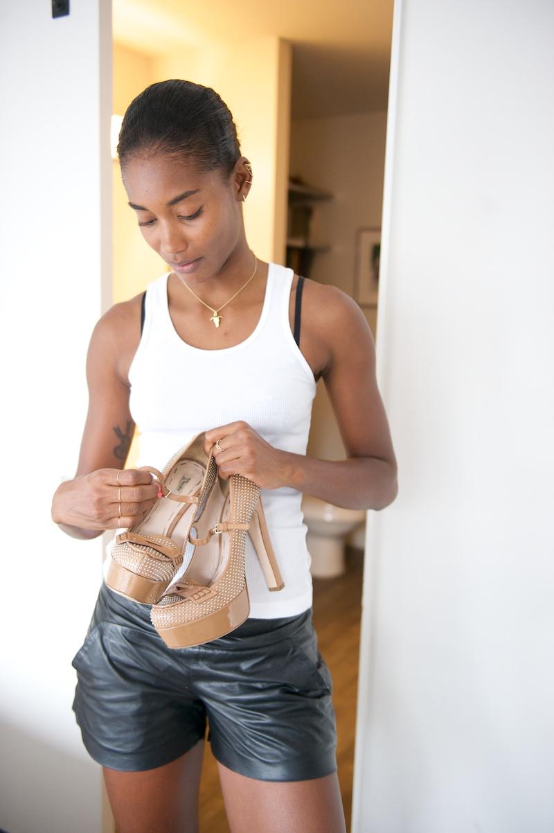 Miu Miu platform heels