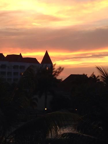 sunset horizon warmth peaceful jamaica magical idyllic
