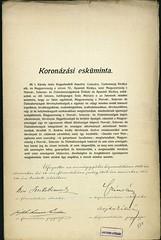 015. A koronázási esküminta országgyűlési határozattal elfogadott szövege