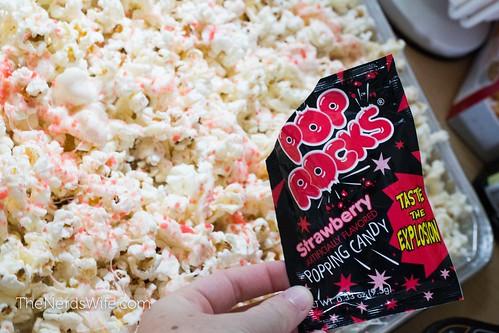 Pouring Pop Rocks on Firecracker Popcorn