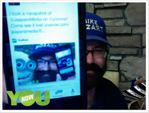 YouNow JeepersMedia Live Show Screen Captures. Pics by Mike Mozart of TheToyChannel and JeepersMedia on YouTube. #JeepersMedia #YouNow