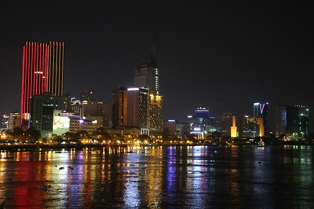 Saigon river night scene