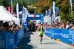 The final stretch during 2014 SUBARU Ironman Canada in Whistler