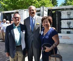 State Senator John McCoy, Governor Inslee and State Representative Cindy Ryu