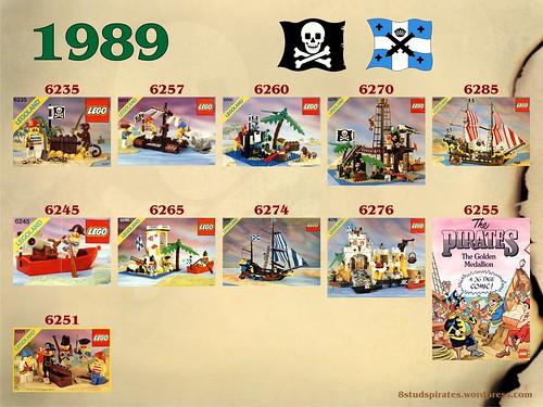 LEGO Pirates Timeline 1989