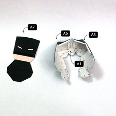 วิธีทำโมเดลกระดาษแบทแมน (Batman Papercraft Model) 004