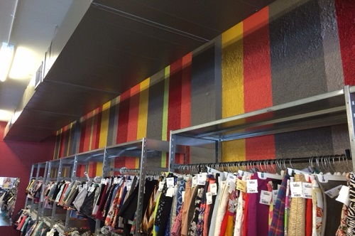 Commercial Painting - Retail Wall Stripes - ProTect Painters of Austin TX