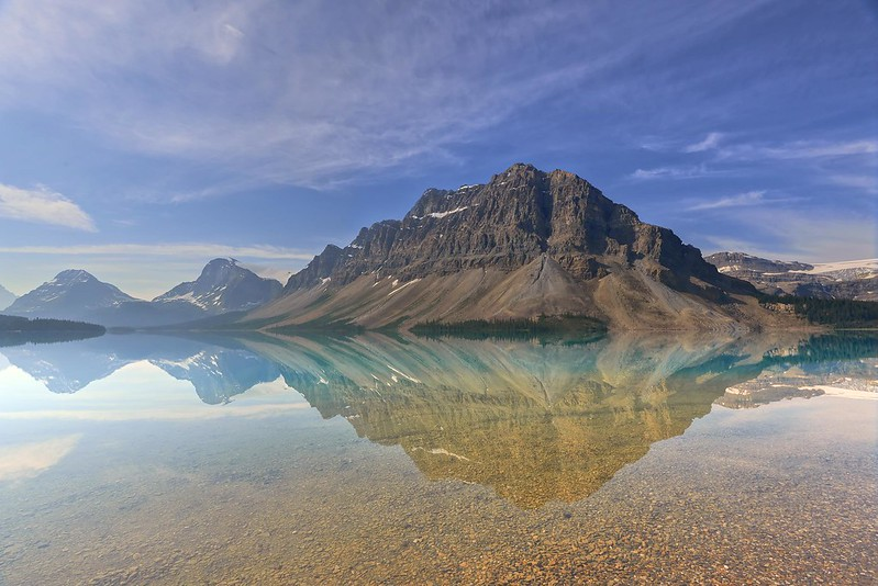 Reflections in Bow Lake - Banff National Park