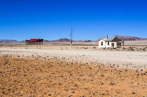 Garub train station in ruins, Namibia