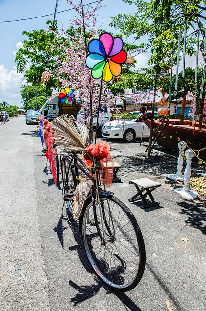 Decorated bicycle at Tanjung Sepat