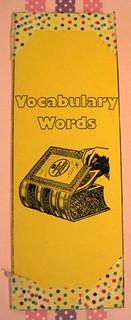 Vocabulary Book #1