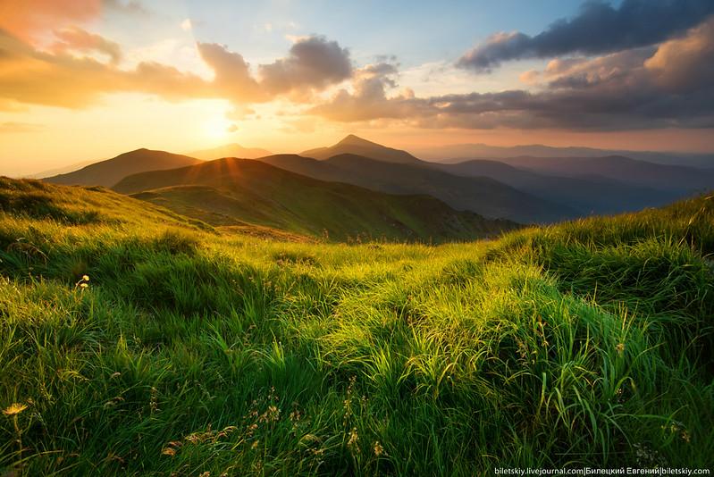 Carpathians sundown