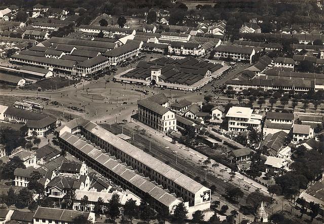 SAIGON 1920s - Le marché, la gare... Chợ Saigon và ga xe lửa