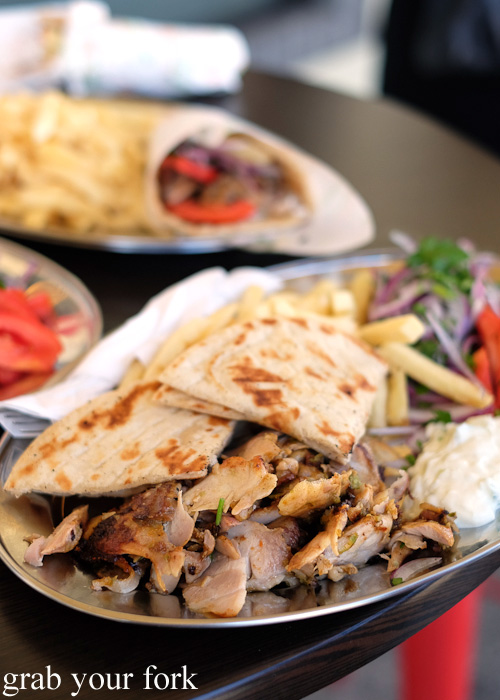 Gyros chicken merides at Traditional Gyradiko, Bexley