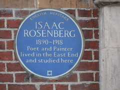 Photo of Isaac Rosenberg blue plaque