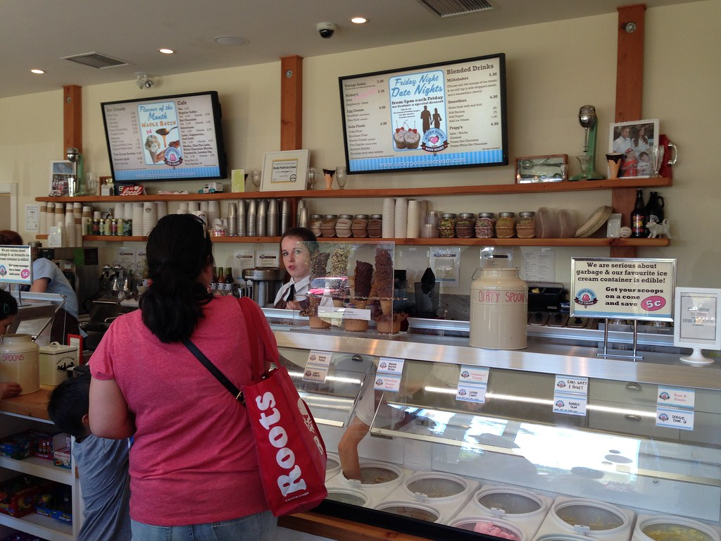 Ice cream counter at Rocky Point