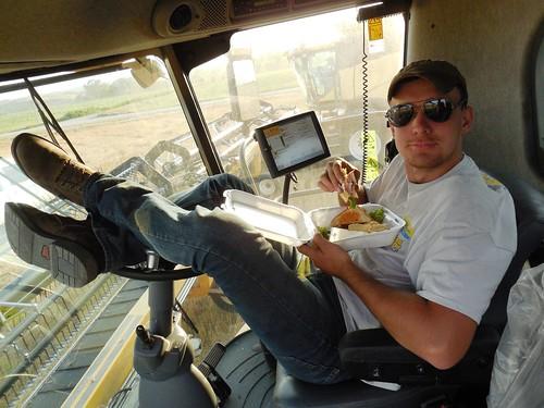 Brandon eating lunch