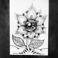 Gel pen on watercolor paper.